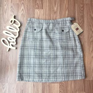 NWT Woolrich Plaid Tweed Mini Skirt